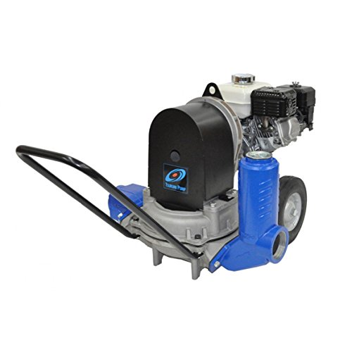 Tsurumi Diaphragm Pump - 3in. Ports, 5100 GPH, 2 3/8in. Solids Capacity, 120cc Honda GX120HX Engine, Model# TD5-300