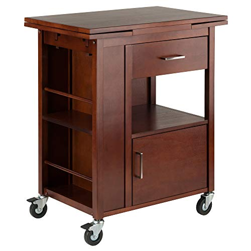 Winsome Wood 94643 Gregory Cart Kitchen, Walnut