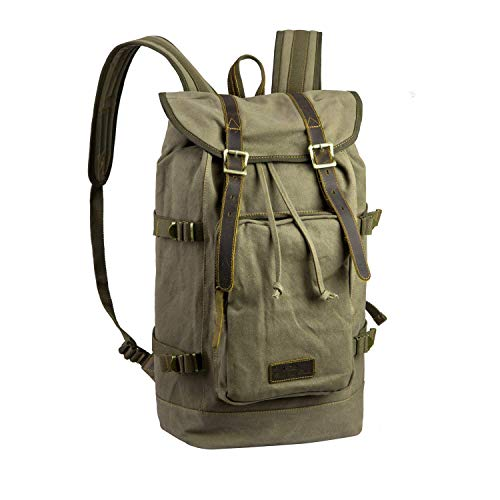 Hiking Daypacks, Outdoor Camping Rucksacks Leather Canvas Backpacks for Different Age (Vintage Boy Scout Backpack)