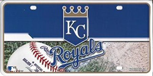 MLB Kansas City Royals Metal Auto Tag