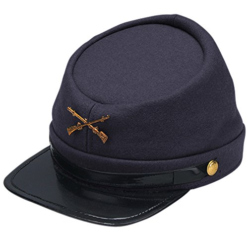 Jacobson Hat Company Adults Civil War Yankee Union North Soldier Hat Costume Accessory,Blue,Standard Size -  Jacobson Hats, JH19500