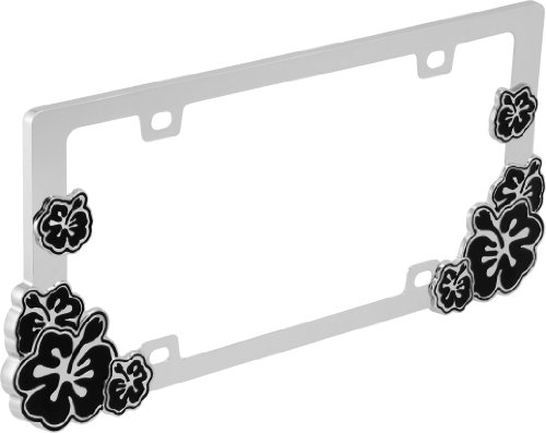 Hibiscus License Plate Frame