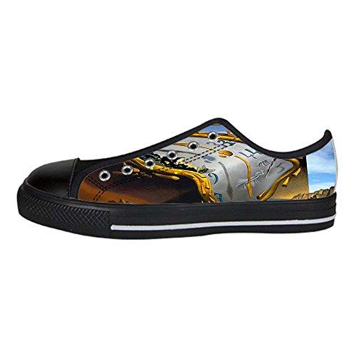 DONGMEN Custom Salvador Dali Surreal Flat Canvas Shoes Sneakers For Women