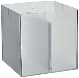 Deflecto Desktop Organizer, Divided, 6 x 6 x 6 Inches, Clear (350701)