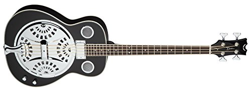 Dean RES BASS CBK Resonator Acoustic/Electric Bass, Classic - Resonator Chromes Guitar Dean