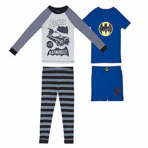 DC Comics Boys Batman 4-pc Pajama Set Blue//Grey, 5