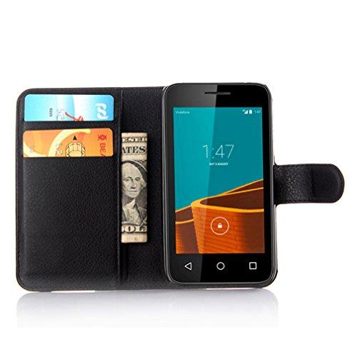 Funda Vodafone Smart first 6,Manyip Caja del teléfono del cuero,Protector de Pantalla de Slim Case Estilo Billetera con Ranuras para Tarjetas, Soporte Plegable, Cierre Magnético B