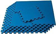 We Sell Mats 3/8 Inch Thick Multipurpose EVA Foam Floor Tiles, Interlocking Floor Mat for Indoor Gym and Home