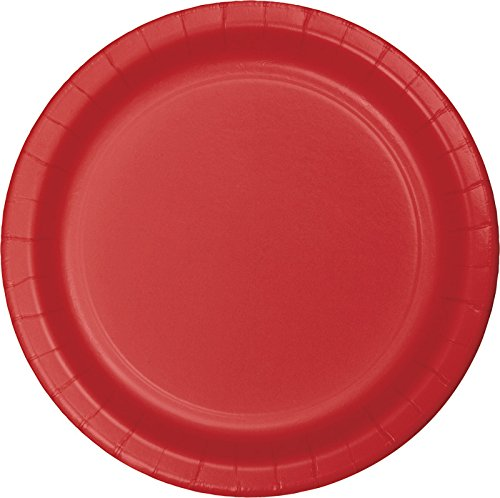 Red Paper Plates (Creative Converting 75-Count Value Pack Paper Dinner Plates, Classic Red -)