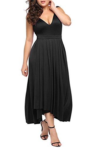 Zeagoowomens Plus Size Bridesmaid Dress Sleeveless V Neck