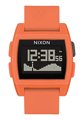 NIXON Base Tide A1111 - Orange Resin - 107M Water Resistant Men's Digital Surf Watch (38 mm Watch Face, 29 mm Pu/Rubber/Silicone Band)