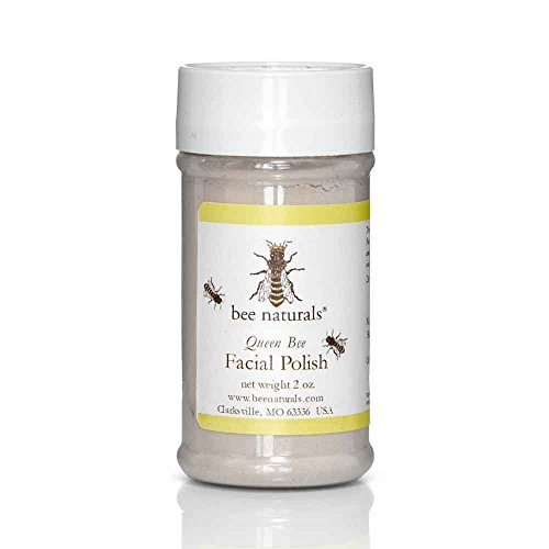 Skin Polisher Facial Exfoliant (Soft Face Scrub - Best Facial Exfoliator by Bee Naturals - Works Great with Face Wash or Cleanser - Gentle, Natural & For All Skin Types - Exfoliating Polisher for Bright, Fresh & Radiant Skin - 2oz)