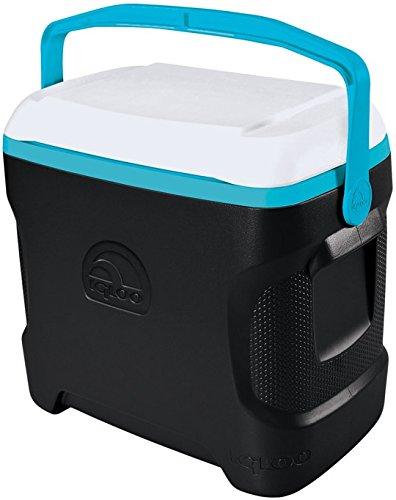 Igloo Contour Cooler Can , Black/White/Turquoise, 30 quart/2