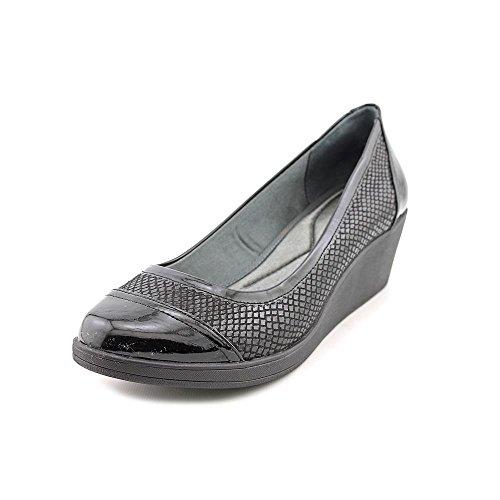 DKNY Lucy Womens Size 8.5 Black Open Toe Wedges Heels Shoes UK 6 EU 39