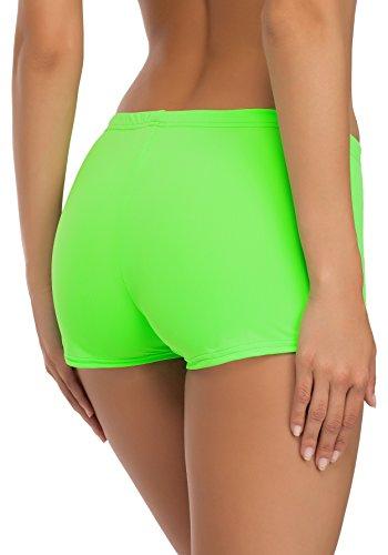 Merry Style Shorts de Ba?o para Mujer Modelo Leila Verde Neón (7154)