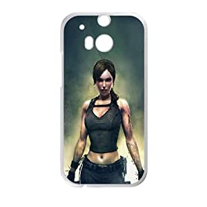 Tomb Raider Grunge HTC One M8 Cell Phone Case White&Phone Accessory STC_199743