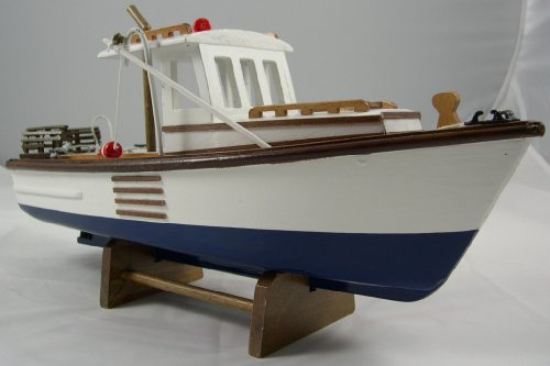 UD Replica New England Lobster Boat Model ~ Nautical Decor]()