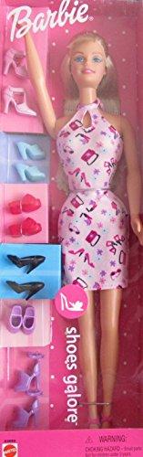 (BARBIE DOLL Fashion Avenue SHOES GALORE Set w Barbie DOLL & 7 PAIRS of SHOES (2001))