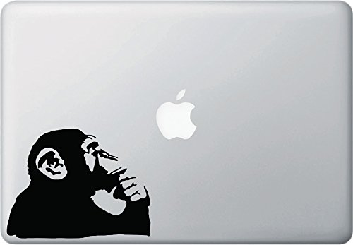 Yadda-Yadda Design Co. Chimp Thinking - MacBook or Laptop Vinyl Decal Sticker (5.25