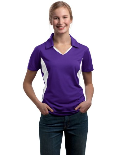 Sport Tek Women's Side Blocked Performance Polo Shirt. LST655