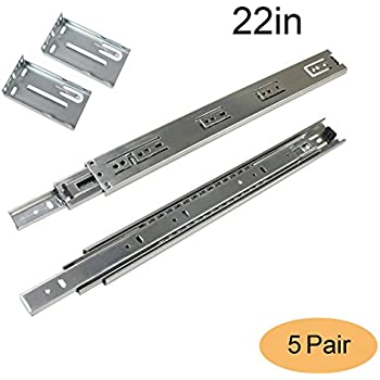 Gobrico Ball Bearing Drawer Slides With Brackets Rear