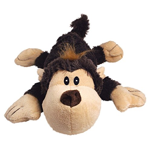 KONG Cozie Spunky the Monkey, Medium Dog Toy, Brown ()