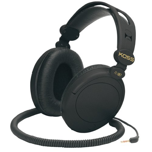 Koss R-80 Over Ear Headphones, (Over Ear Cord)