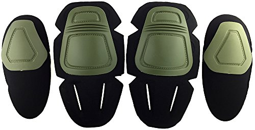 (SportPro CM Protective Combat Knee and Elbow Pads Pack for G3 Pants - Olive Drab)