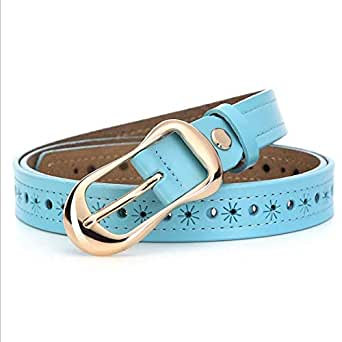 Blue Leather Belt For Women