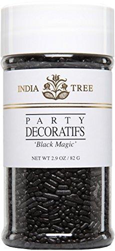 India Tree Decoratifs, Black Magic, 2.9 Ounce - Black Sprinkles