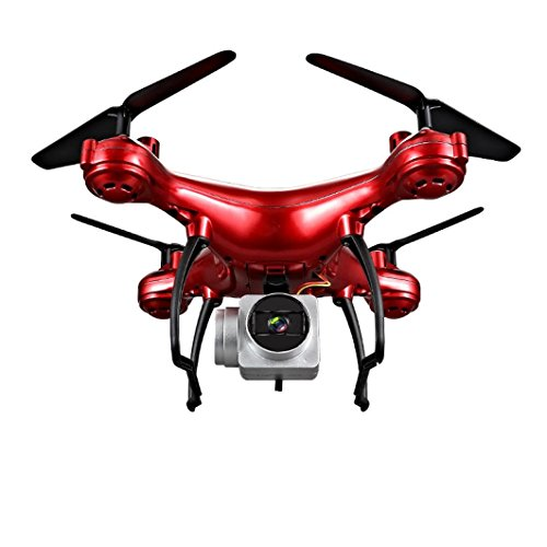 Gbell RC Aircraft Helicopter Drone 1800mAh Battery 4CH 6-Axis Headless One Key Return Mode for Adults,Boys,Girls (Red)