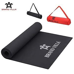 brandvilla Yoga Mat with Carrying Bag Anti Skid Yogamat