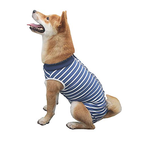 Dog Surgery Recovery Suit Medical Surgical Shirt Post-Operative Vest Abdominal Wound Protector After Surgery Clothes for Dogs and Cats (XL)
