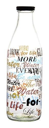 Bataniya hygienic Leak Proof high Quality Stylish Printed Beverage Glass Water Bottle