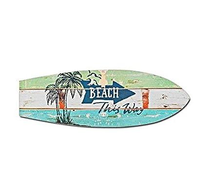 Decoración mural, diseño de tabla de surf con texto en inglé