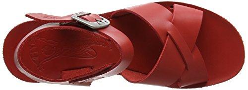 FLYA4|#Fly London Fly London P143909002, Sandalias de Cuñas Mujer Rojo (Scarlet 002)