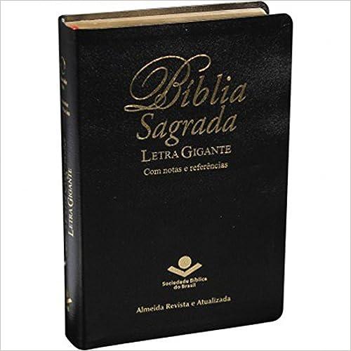 Bíblia Sagrada Letra Gigante - Couro bonded Preto: Almeida Revista e Atualizada (ARA)