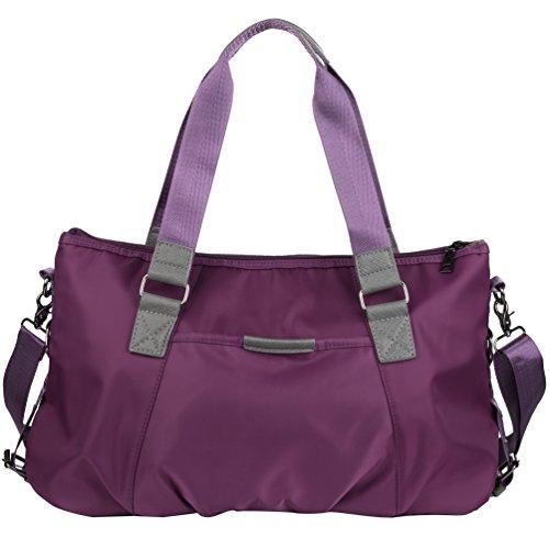 de capacidad viaje bolsa Bolso las de la Crossbody la mensajero Púrpura Vbiger grande mujeres de bolso Oxford de del Bolso de de de hombro 4q6nTwTdBz