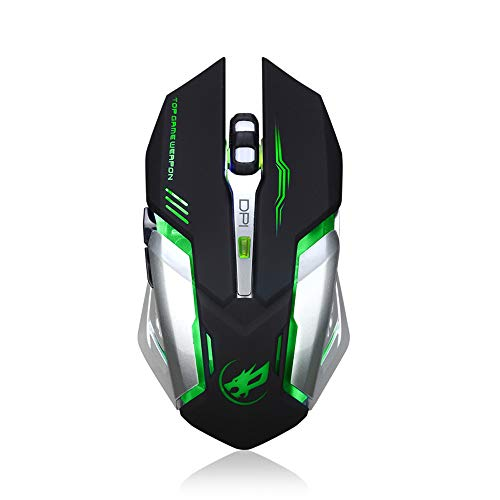Gaming Mouse Wired, USB Optical Computer Mice with RGB Backlit, 4 Adjustable DPI Up to 2400, Ergonomic Gamer Laptop PC Mouse with 6 Scroll Whee for Laptop and PC User