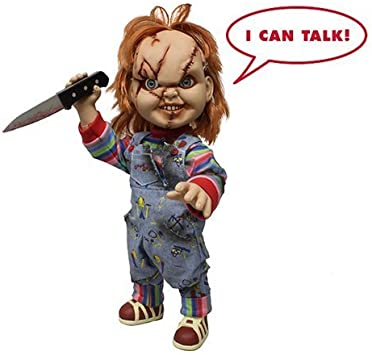 "Mezco Toyz Chucky Talking Doll Child/'s Play 15/"" Mega Scale Bride Of Chucky NEW"
