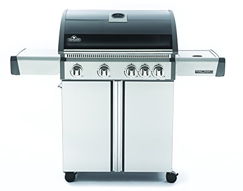 Napoleon T495SBNK Triumph Natural Gas  with 4 Burners, Black and Stainless Steel (Best Way To Bbq Hot Dogs)