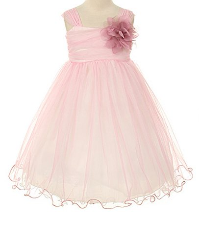 - Kids Dream Little Girls' Special Occasion Double Layer Mesh Dress, 2, Dusty Rose/Ivory
