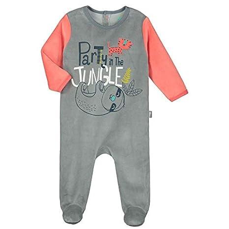 fb662c8810c64 Pyjama bébé velours Party Jungle - Taille - 6 mois (68 cm)  Amazon ...