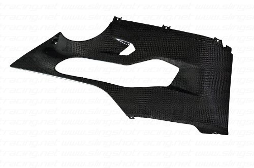 Ducati 1199 S R Tricolore 899 Panigale 1299 Carbon Fiber Fibre Lower Side Panel Fairing Belly - Panel Fairing Lower