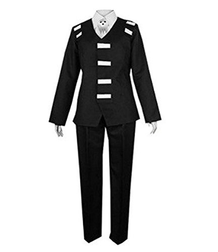 TISEA Halloween and Party Use Black Suit Uniform Cosplay Costume (L, Female) by TISEA