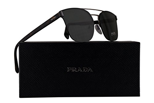 Prada PR67TS Sunglasses Matte Brown w/Green 63mm Lens VIX3O1 SPR67T PR 67TS SPR - Collection Prada New