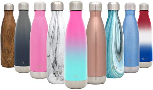 (Simple Modern 17oz Wave Water Bottle - Stainless Steel Double Wall Vacuum Insulated Reusable Leakproof Ombre:)
