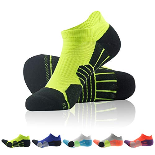 Low Cut Compression Socks, NIcool Womens Running Walking Climbing Athletic Single Tab Socks St. Patrick's Day Gifts, Bright Green, 1 Pair ()