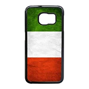 Popular And Durable Designed TPU Case With Italian flag_001 For Samsung Galaxy S6 Edge Cell Phone White Cover