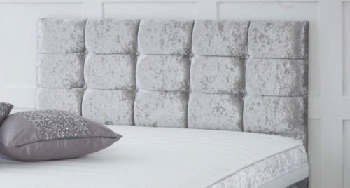 CRUSHED VELVET CONTEMPORARY HEADBOARD ALL SIZES AND COLOURS AVAILABLE HB09(4ft Small Double 20